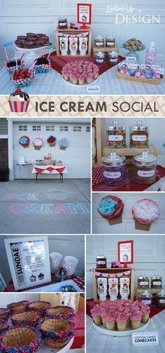 Bringing Back the Ice Cream Social - DolledUpDesign