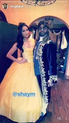 Shay Mitchell and KingBach  via Instagram (Beauty And The Beast)