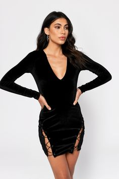 Find your next bodycon dress in lace or two-piece, black, white and more. Sexy bandage dresses for your next GNO! Grey Bodycon Dresses, Lace Up Bodycon Dress, Lace Dress Black, Dress Lace, Sequin Dress, Striped Dress, Grey Velvet Dress, Black Velvet, Cocktail Length Dress