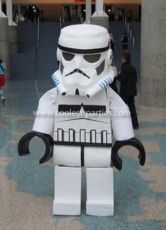 Homemade Lego Stormtrooper Costume: This Homemade Lego Stormtrooper Costume was worn at Anime Expo at the Los Angeles Convention Center in July of 2010. It was really fun to make, and I had