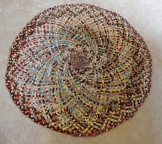 Vintage Braided Circle Rag Rug 48 inches by TheRookandSparrows, $160.00