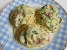 Szalonnás-pórés spagetti (Gluténmentesen is) Spaghetti, Ethnic Recipes, Food, Essen, Meals, Yemek, Noodle, Eten