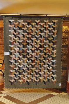 Untitled by Jeannie Jenkins. It was included in a quilt show called Tradition in Transition at the 18th Carrefour European du Patchwork in A...