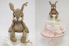 epocă de pluș iepuras iepure tort de Emma Jayne tort de proiectare