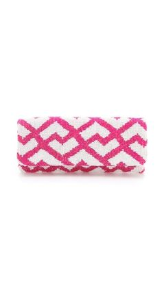 MOYNA Fold Over Geometric Clutch $145