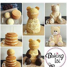 Вот как делается торт Мишка )