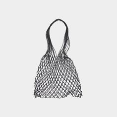 Grocery bag is a hand made bag from linen string. Itwas woven by hand in a small village of Orneta in Northeastern Poland, a region famous for crafting the hig