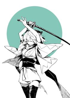 Found on iFunny Anime Art Girl, Manga Art, Manga Anime, Katana, Character Art, Character Design, Fanart, Fate Characters, Fate Servants