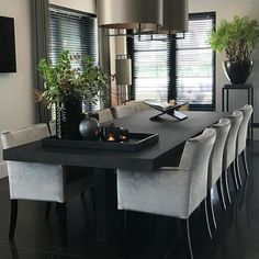Other Pins like this -> Elegant Interior Design ∘ ∘ ゚ Dining Room Table Decor, Dining Room Sets, Dining Room Design, Living Room Decor, Luxury Dining Room, Dining Room Inspiration, Home Decor Kitchen, Modern House Design, Home Interior Design