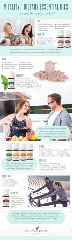 As the French with essential oils you can cook and ingest the Vitality line from Young Living. Only pure, therapeutic oils should be ingested. http://www.theoildropper.com/young-living-vitality-essential-oils/