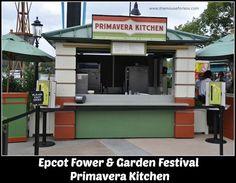 Primavera Kitchen Menu at Epcot's Flower & Garden Festival