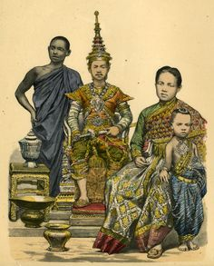 Thai royal family illustration from National Geographic