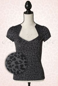 Steady Clothing Leopard Sophia Top Charcoal  111 19 14298 20141209 0006Pop