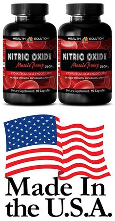 Nitric oxide and creatine - NITRIC OXIDE MUSCLE PUMP 2400MG - improve workout performance (2 Bottles)