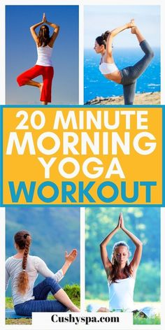If you don't have a lot of time in your morning you will benefit from this easy 20 minute yoga workout. This quick yoga routine is the perfect way to start your morning. Try this fast workout this week and get all the yoga benefits! #Yoga #Workout Morning Yoga Workouts, Fast Workouts, Yoga For Flexibility, Back Muscles, Yoga For Weight Loss, Vinyasa Yoga, Yoga Routine, Yoga Benefits, Yoga Lifestyle