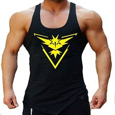 Entrenamiento para hombre Pokemon Go Team Valor Equipo Mystic equipo instinto aptitud de la gimnasia sin mangas Pokeball Deportes singlete #camiseta #starwars #marvel #gift