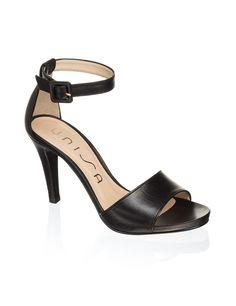 Unisa Glattleder-Sandalette - schwarz - Gratis Versand | Schuhe | Sandalen & Sandaletten | Online Shop | 1322812490