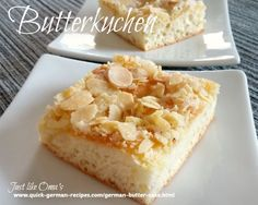 German butter cake http://www.quick-german-recipes.com/german-butter-cake.html with an easy yeast base (use your bread machine for this)