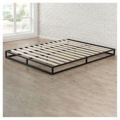 6 Platforma Metal Bed Frame - King - Black - Zinus