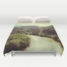 Between Mountains  Duvet Cover by Victoria Herrera - $99.00