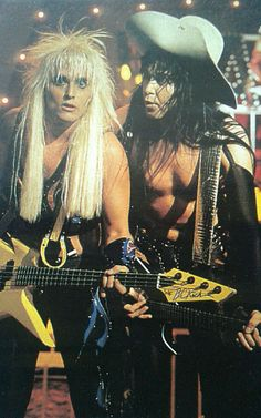 Johnny Rod & Blackie Lawless of W.A.S.P. Inside The Electric Circus era #JohnnyRod #BlackieLawless #wasp