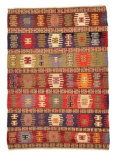 Vintage Sivas Kilim Rug around 30 years old. Fabric Rug, Prayer Rug, Magic Carpet, Turkish Kilim Rugs, Tribal Rug, Woven Rug, Floor Rugs, Rugs On Carpet, Kilims