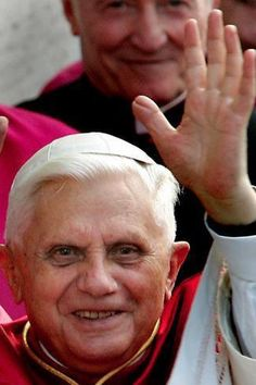Pope Benedict - waving to you