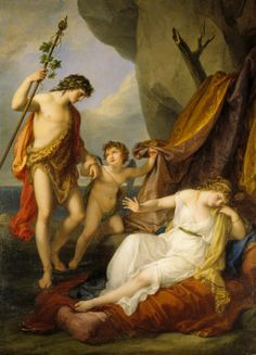 Bacchus and Ariadne with Cupid, by Angelica Kauffmann, at Attingham Park, Shropshire. ©NTPL/Derrick E. Witty