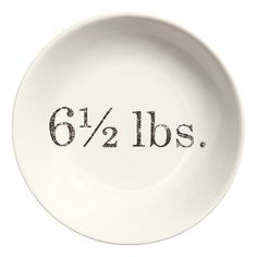 These are great side plates from H&M printed with vintage-stye weights and measures