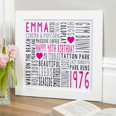 Beautiful Personalised Word Art Prints & Canvases. Easy to create & preview on screen before you buy www.chatterboxwalls.com