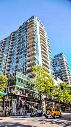 Atlanta Condo 101 - We provide you with balanced opinion of Atlanta's most popular condominium and loft buildings! Atlanta Condo, Atlanta Midtown, Atlanta Skyline, Buying A Condo, Real Estate Buyers, Condo Living, Condominium, Skyscraper
