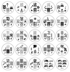 25pc Nail Art Stamping Image Plates 2012 Collection