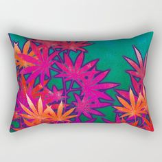 Turquoise Cannabis Field Rectangular Pillow by the Weed Art Lady - polyest. Turquoise Cannabis Field Rectangular Pillow by the Weed Art Lady - polyester twill fabric - Double-sided print - In. Down Pillows, Throw Pillows, Weed Art, Smoking Weed, Pillow Inserts, Accent Pillows, Cannabis, Hand Sewing, Turquoise