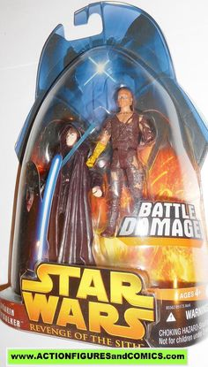 star wars action figures ANAKIN SKYWALKER battle damage 50 2005 revenge of the sith moc