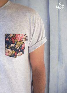 Poche funky pour tshirt basique