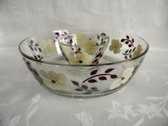 Golden honey brown mid century bowls unmarked sold individually