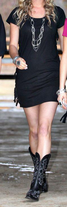 e842fbb9e3a Cowgirl Tuff Women s Black Dress Item   000220 Black Cowgirl Boots