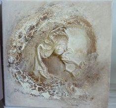 Un petit tableau en craquelé avec de l'ivoire et le bistre La tête est très fine, et voilà ce que cela donne a tout bientot