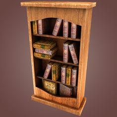 3Dsmax Bookshelf S - 3D Model