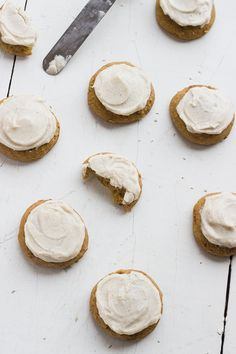 Whisk Kid: Stunt - {Soft Frosted Ginger Chunk Pumpkin Spice Cookies}