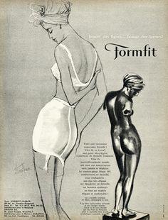 Formfit 1962 Girdle, Bra, Eliza Fenn. Great foundation wear for bride.