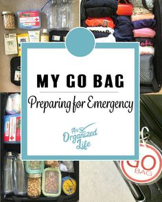 Get organized for the worst case scenario and create a GO bag for you and your family. In this post I discuss how and why I created our families emergency bag and what you can do to create your own! Source by an_organized_life Look Emergency Go Bag, Emergency Preparedness Food, Emergency Binder, Hurricane Preparedness, Family Emergency, Emergency Preparation, Emergency Supplies, Survival Prepping, Wilderness Survival