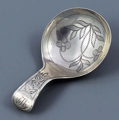 English silver tea caddy spoon  I wish my spoons were this deep!