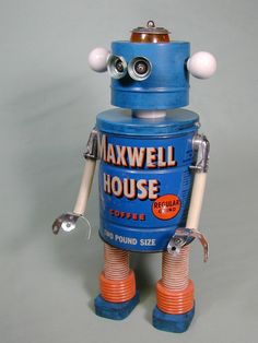 MAXWELL 2  Found Object  Robot Sculpture by NutzenBoltsWorks, $149.00