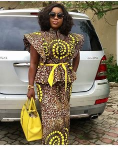 Classy picture collection of Beautiful Ankara Skirt And Blouse Styles These are the most beautiful ankara skirt and blouse trending at the moment. If you must rock anything ankara skirt and blouse styles and design. African Print Dresses, African Print Fashion, African Fashion Dresses, African Dress, Ankara Fashion, Ghanaian Fashion, African Clothes, African Prints, Dress Fashion