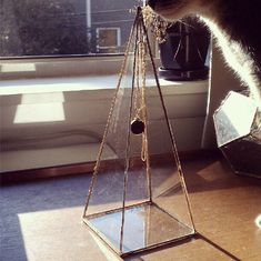 Pyramid Necklace Display Box - Tall Glass Pyramid - Jewelry Box With Hook…