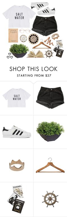 """i wanna be your everything and more"" by ravenclawangel ❤ liked on Polyvore featuring Levi's, adidas, Ethan Allen, Kismet, PERIGOT, Assouline Publishing and Retrò"