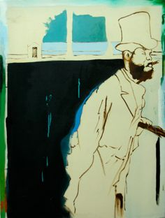 "Saatchi Online Artist: Lewis Hammond; Oil 2013 Painting ""Oh Edgar! II"""