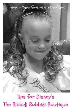 Tips for Disney's Bibbidi Bobbidi Boutique. Looks like a little princesses dream!