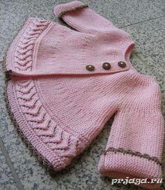 Jacket spokes for girls, cross knitting